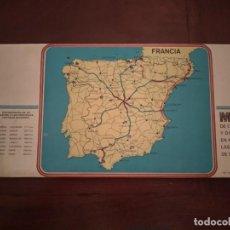 Mapas contemporáneos: MAPA DE CARRETERAS Y CONTADOR DE KMS. ENTRE CAPITALES DE ESPAÑA - NUEVO A ESTRENAR. Lote 214037151