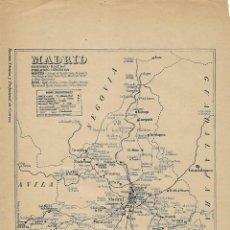 Mapas contemporáneos: MAPA DE CORREOS POR A. VILARROYA - MADRID. Lote 214057155