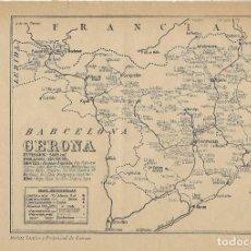 Mapas contemporáneos: MAPA DE CORREOS POR A. VILARROYA - GERONA - GIRONA. Lote 214057190