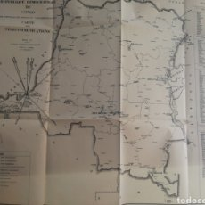 Mapas contemporáneos: MAPA D.R.CONGO DE TELECOMUNICACIONES. Lote 214718912