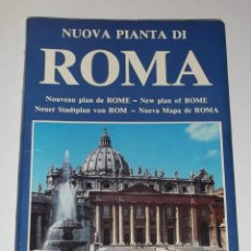 Mapas contemporáneos: PLANO MONUMENTAL DE ROMA - PLURIGRAF. Lote 215299776