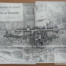 Mapas contemporáneos: REPRODUCCION FOTOGRAFICA PLANO ANTIGUO DE GRANOLLERS (BARCELONA). Lote 215780980