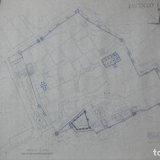 Mapas contemporáneos: PLANO.RECINTO TARIFA.FUNDACION ABDELRRAMAN.RECONSTRUCCION CERCA SIGLO XII.ARQUITECTO PAN.1967. Lote 216416168