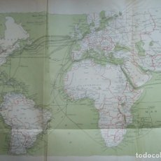 Mapas contemporáneos: ATLAS GEOGRAFICO TELEGRAFICO UNIVERSAL PERMANENTE. CAMACHO GONZALEZ. AÑO 1911. Lote 216600827