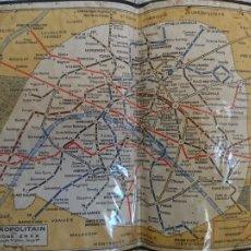 Mapas contemporáneos: ANTIGUO MAPA , R. QUE Y, METROPOLITAIN, EDITIONS ERKA, PARIS. Lote 217021678