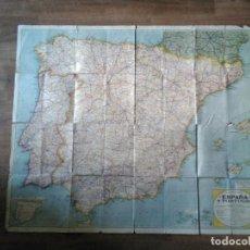 Mapas contemporáneos: ANTIGUO MAPA DE ESPAÑA - AÑOS 60. Lote 217143572