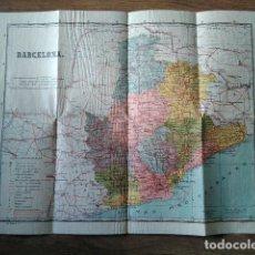 Mapas contemporáneos: ANTIGUO MAPA DE BARCELONA AÑOS 40- 50. Lote 217144573