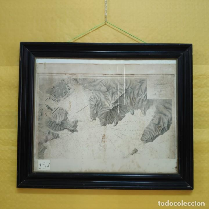 PLANO DEL PUERTO DE CARTAGENA CON LA ESCOMBRERA Y ALGAMECA- 1873-1876 - 1000-003-B (Coleccionismo - Mapas - Mapas actuales (desde siglo XIX))