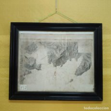 Mapas contemporáneos: PLANO DEL PUERTO DE CARTAGENA CON LA ESCOMBRERA Y ALGAMECA- 1873-1876 - 1000-003-B. Lote 45836976