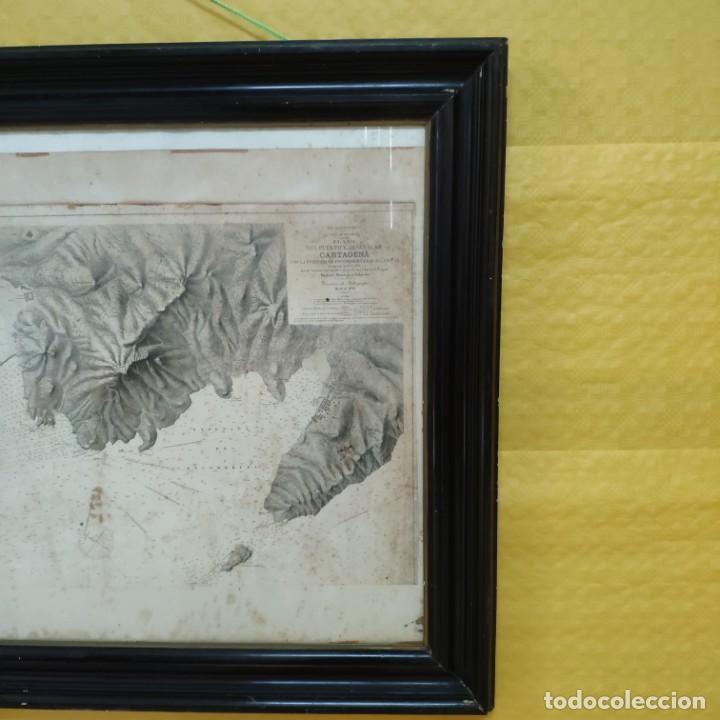Mapas contemporáneos: PLANO DEL PUERTO DE CARTAGENA CON LA ESCOMBRERA Y ALGAMECA- 1873-1876 - 1000-003-B - Foto 2 - 45836976