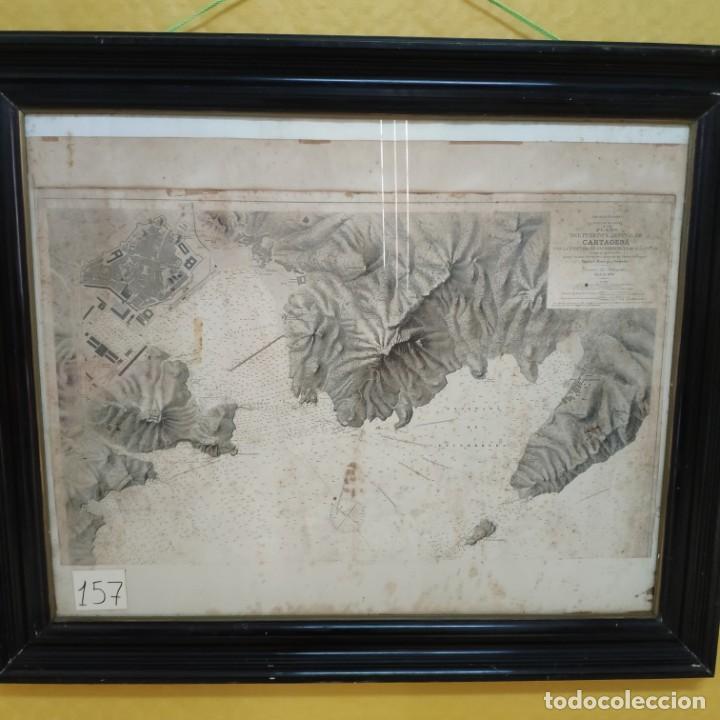 Mapas contemporáneos: PLANO DEL PUERTO DE CARTAGENA CON LA ESCOMBRERA Y ALGAMECA- 1873-1876 - 1000-003-B - Foto 3 - 45836976