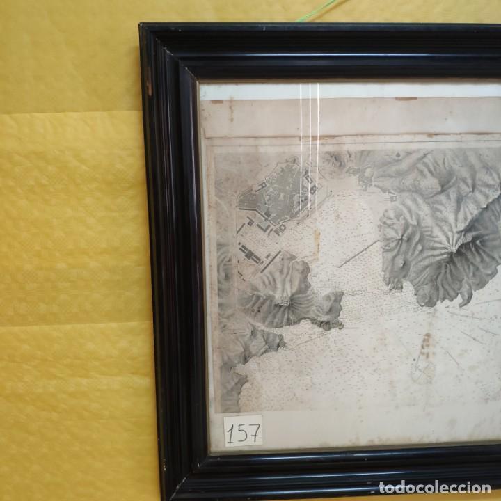 Mapas contemporáneos: PLANO DEL PUERTO DE CARTAGENA CON LA ESCOMBRERA Y ALGAMECA- 1873-1876 - 1000-003-B - Foto 4 - 45836976