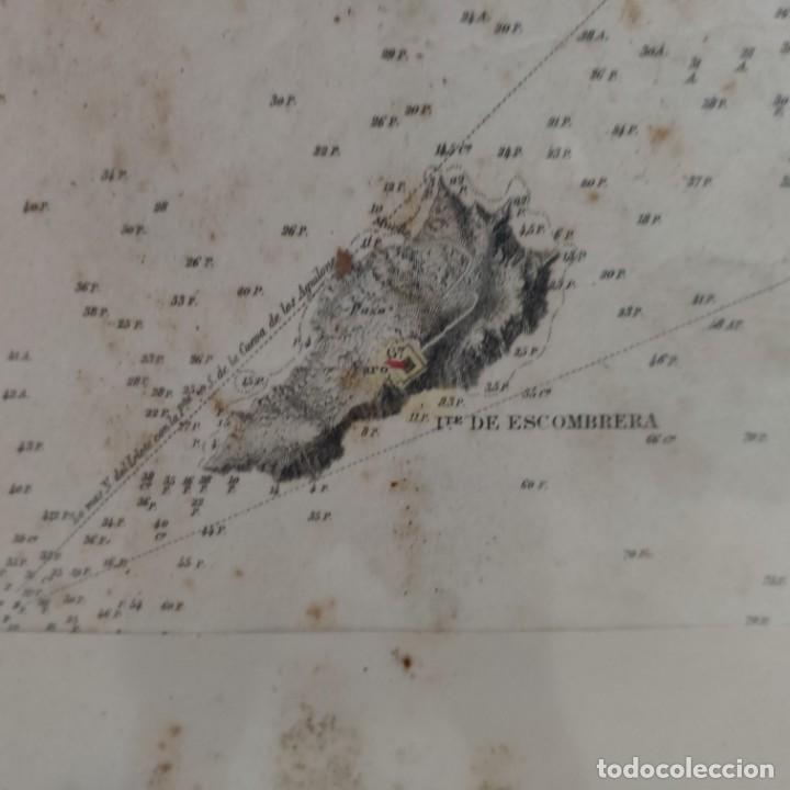 Mapas contemporáneos: PLANO DEL PUERTO DE CARTAGENA CON LA ESCOMBRERA Y ALGAMECA- 1873-1876 - 1000-003-B - Foto 18 - 45836976