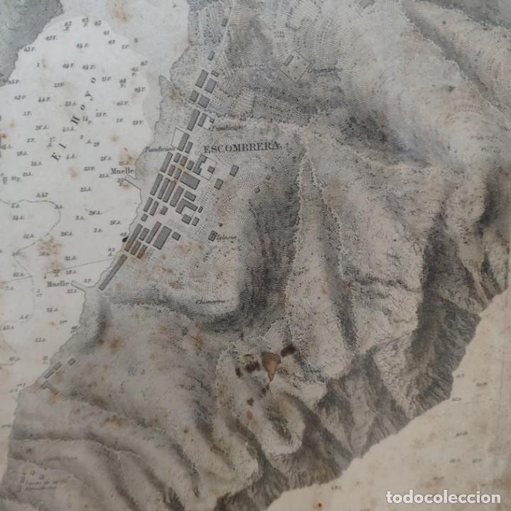 Mapas contemporáneos: PLANO DEL PUERTO DE CARTAGENA CON LA ESCOMBRERA Y ALGAMECA- 1873-1876 - 1000-003-B - Foto 21 - 45836976