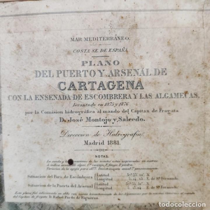 Mapas contemporáneos: PLANO DEL PUERTO DE CARTAGENA CON LA ESCOMBRERA Y ALGAMECA- 1873-1876 - 1000-003-B - Foto 20 - 45836976