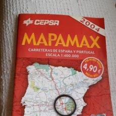 Mapas contemporáneos: MAPAMAX CEPSA 2004 GRAN ATLAS DE CARRETERA ESPAÑA Y PORTUGAL. Lote 218278706