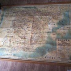 Mapas contemporáneos: ** MAPA ESCOLAR.ESPAÑA FISICA. FOREST. 1,35 M (R:GE/AE)2. Lote 218369437
