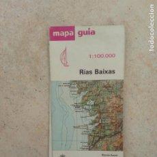 Mapas contemporáneos: MAPA PLANO GUIA DE RIAS BAIXAS - PONTEVEDRA - IGN - GALICIA 1:100.000. Lote 218487571