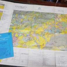 Mapas contemporáneos: MAPA GEOLOGICO MINERO IGME ELCHE ALICANTE 72. Lote 218578868