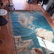 Mapas contemporáneos: MAPA ANTIGUO AMÉRICA GIGANTE ENTELADO 220X170. Lote 218582872