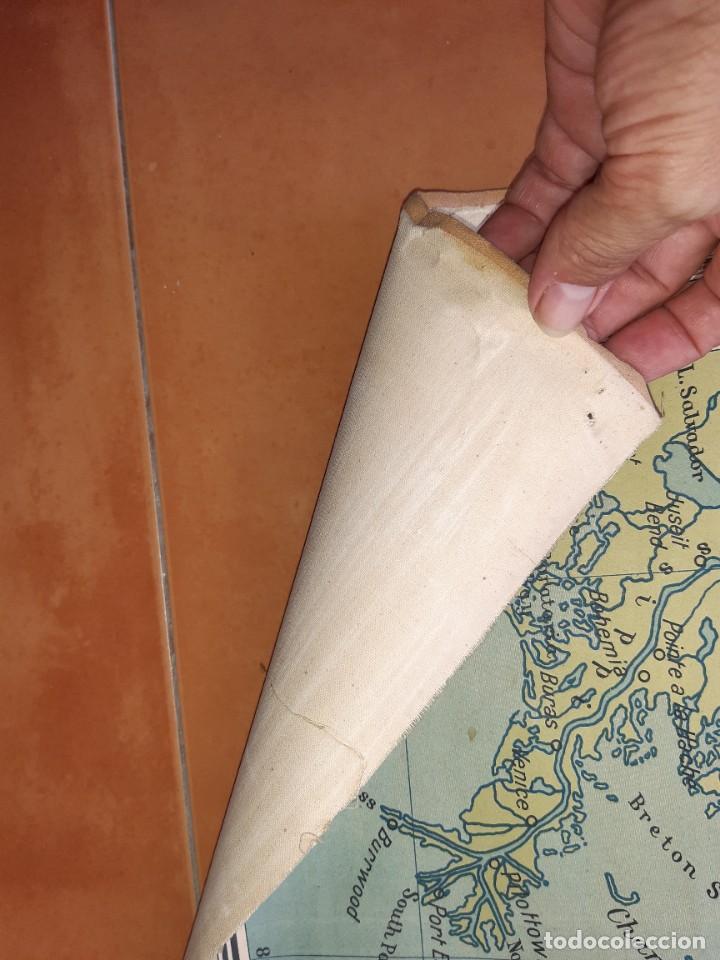 Mapas contemporáneos: Mapa antiguo América gigante entelado 220x170 - Foto 2 - 218582872