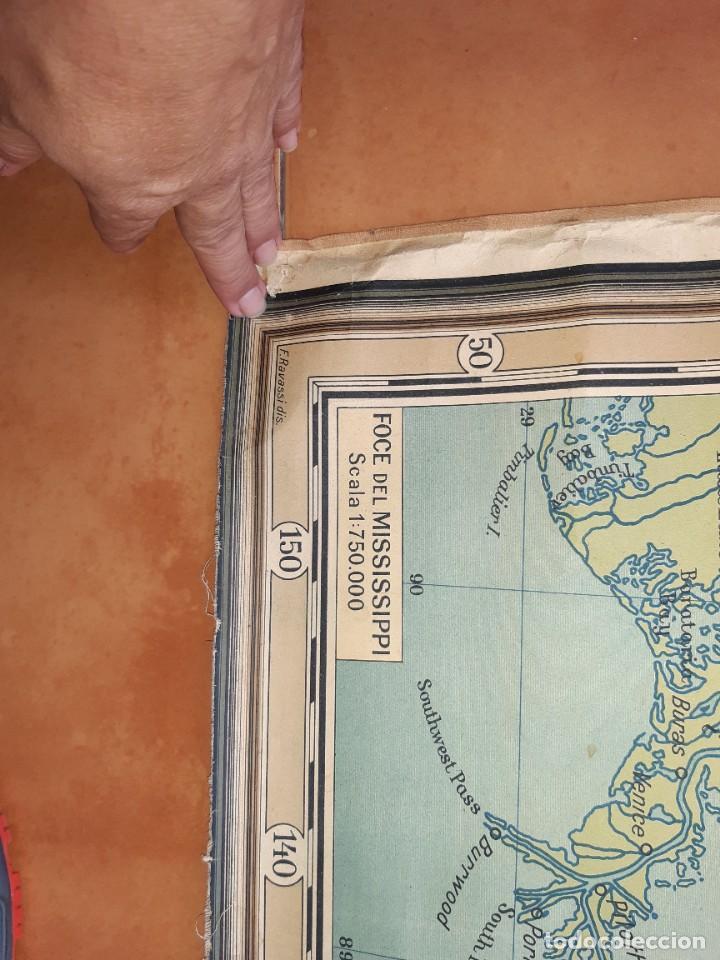 Mapas contemporáneos: Mapa antiguo América gigante entelado 220x170 - Foto 4 - 218582872