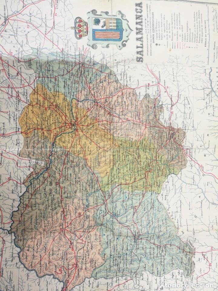 ANTIGUO MAPA DE SALAMANCA DE LA PROVINCIA DE SALAMANCA (Coleccionismo - Mapas - Mapas actuales (desde siglo XIX))
