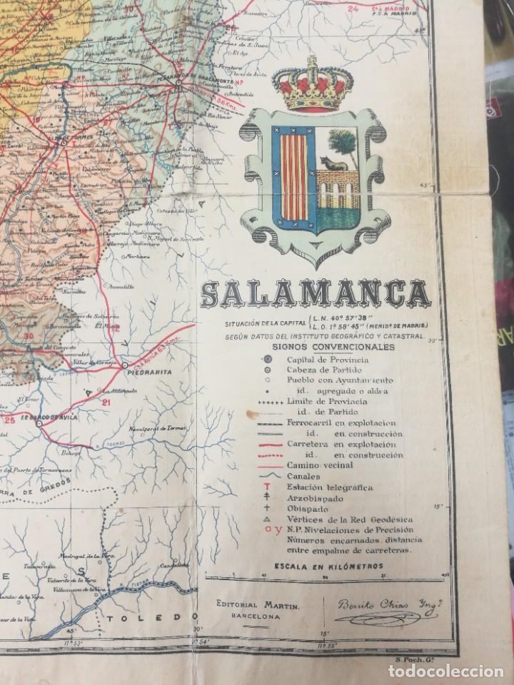 Mapas contemporáneos: antiguo mapa de salamanca de la provincia de salamanca - Foto 3 - 218719722