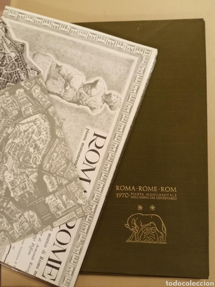 MAPA ROMA PIANTA MONUMENTALE NELL'ANNO DEL CENTENARIO 1970 ARMANDO RAVAGLIOLI ITALIA (Coleccionismo - Mapas - Mapas actuales (desde siglo XIX))