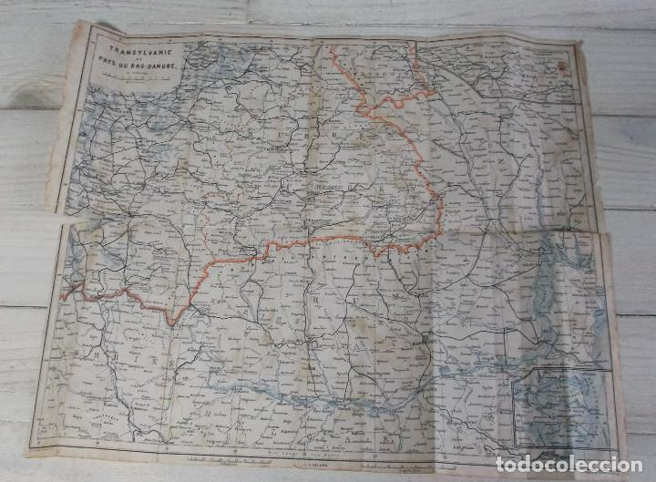 ANTIGUO MAPA DE TRANSYLVANIE ET PAYS DU BAS-DANUBE - LEMBERG- CZERNOWITZER EISENBAHN (Coleccionismo - Mapas - Mapas actuales (desde siglo XIX))
