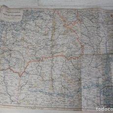 Mapas contemporáneos: ANTIGUO MAPA DE TRANSYLVANIE ET PAYS DU BAS-DANUBE - LEMBERG- CZERNOWITZER EISENBAHN. Lote 218912843