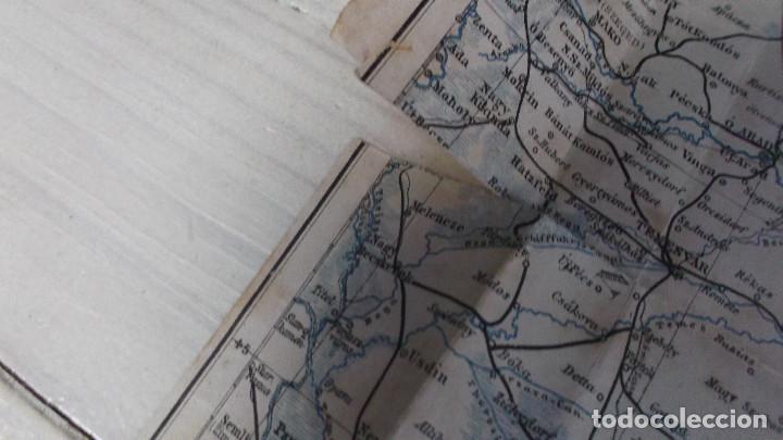 Mapas contemporáneos: Antiguo mapa de Transylvanie et Pays Du Bas-Danube - LEMBERG- CZERNOWITZER EISENBAHN - Foto 3 - 218912843