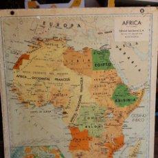 Mapas contemporáneos: MAPA CARTON EDITADO POR SEIX BARRAL. ESCALA 1: 12.000.000. CON DOS CARAS AFRICA Y ASIA. Lote 219042305