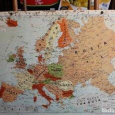 Mapas contemporáneos: MAPA CARTON EDITADO POR SEIX BARRAL. ESCALA 1: 5.000.000. DOS CARAS EUROPA POLITICO / EUROPA FISICO. Lote 219043248