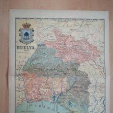 Mapas contemporáneos: MAPA ANTIGUO DE HUELVA. AÑO 1903.. Lote 219275010
