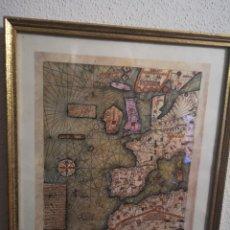 Mappe contemporanee: MAPA FACSÍMIL ENMARCADO. Lote 219330615