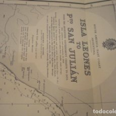 Mapas contemporáneos: CARTA DE NAVEGACIÓN SOUTH AMERICA-EAST COAST. ARGENTINA. ISLA LEONES TO PTO. SAN JULIÁN. Lote 219441388