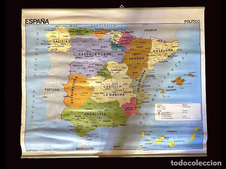 MAPA POLÍTICO Y FÍSICO DE ESPAÑA EDIGOL EDICCIONES , 1988 IMPECABLE, (Coleccionismo - Mapas - Mapas actuales (desde siglo XIX))