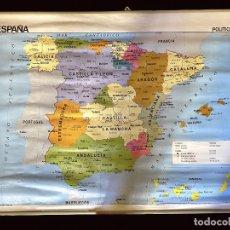 Mapas contemporáneos: MAPA POLÍTICO Y FÍSICO DE ESPAÑA EDIGOL EDICCIONES , 1988 IMPECABLE,. Lote 219590881