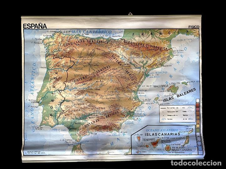 Mapas contemporáneos: mapa político y físico de España Edigol edicciones , 1988 impecable, - Foto 2 - 219590881