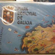 Mapas contemporáneos: PUZZLE REGIONAL MAPA DE GALICIA. GRAFINSA. VIGO 1981. MAPA ETNOGRAFÍA ANTROPOLOGÍA. GALICIA. Lote 219771101
