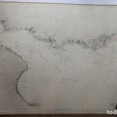 Mapas contemporáneos: CARTA NÁUTICA SIGLO XIX RIO DE LA PLATA AMÉRICA MERIDIONAL 1865 DIRECCIÓN GENERAL HIDROGRAFÍA. Lote 219835110