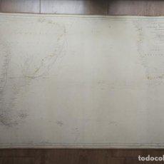 Mapas contemporáneos: CARTA NAUTICA SIGLO XIX OCÉANO ATLÁNTICO 1867 AMÉRICA ÁFRICA MERIDIONL DIRECCIÓN GENERAL HIDROGRAFÍA. Lote 219835115