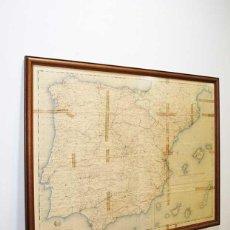 Mapas contemporáneos: MAPA ANTIGUO OBRAS PÚBLICAS DE ESPAÑA. Lote 219967232