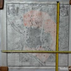 Mappe contemporanee: MAPA PLANO DEL ENSANCHE DE MADRID. ANTEPROYECTO. EJECUTADO POR REAL ORDEN DE 8 DE ABRIL DE 1857.. Lote 220140941