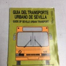Mapas contemporáneos: GUIA DEL TRANSPORTE URBANO DE SEVILLA - TUSSAM 1993. Lote 220447892