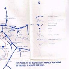 Mapas contemporáneos: PLANO CROQUIS 1:60.000 SAN NICOLAS DE BUJARUELO, PARQUE NACIONAL DE ORDESA Y MONTE PERDIDO, PICOS. Lote 220614582