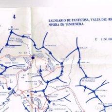 Mapas contemporáneos: PLANO CROQUIS 1:60.000 CABECERA DEL ARAGÓN, ASTÚN, CANAL ROYA, CANAL IZAS, CABECERA DEL GÁLLEGO. Lote 220615595