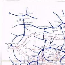 Mapas contemporáneos: PLANO CROQUIS 1:60.000 PUNTA SUELZA, CULFREDA, ORDICETO, EL CAO, VIADOS, TABERNES (TURISMO). Lote 220616636