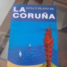 Mapas contemporáneos: PLANO Y GUIA DE LA CORUÑA 58X48 DESPLEGABLE AUTOR P.AUSIN DELINEANTE DE OBRAS PUBLICAS. Lote 220645151